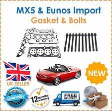 Para Mazda MX-5 1.6i & Eunos Importación 1990-2005 CABEZA JUNTA CONJUNTO & Cabeza Pernos Kit