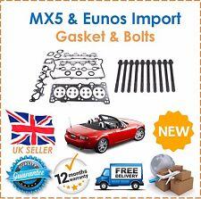 For Mazda MX-5 1.6i & Eunos Import 1990-2005 Head Gasket Set & Head Bolts Kit