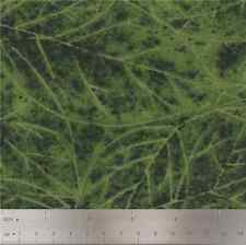 Troy Riverwoods Flannel Fabric, Dark Green Falling Leaves by Katherine Gardner