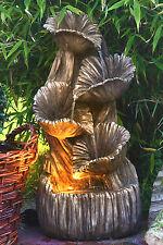 Springbrunnen Madera mit LED Beleuchtung  Gartenbrunnen Wandbrunnen Kaskade