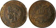 10  CENTIMES  CERES  1882  A  PARIS    ,  SUPERBE  À  FLEUR  DE  COIN
