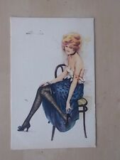 VINTAGE POSTCARD FRENCH FASHION GLAMOUR - SAUCY - REVEALING