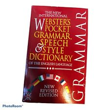 Webster's Pocket Grammar, Speech and Style Dictionary