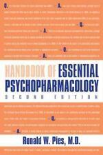 Handbook of Essential Psychopharmacology, Pies M.D., Dr Ronald W, Good Book