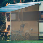Goplus 9' x 7'RV Awning Side Shade Black Mesh Screen Sunshade with Complete Kits