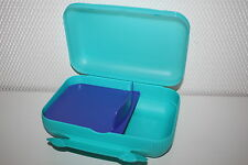 TUPPERWARE Lunch-Box Sandwich Brotdose Pausen Box türkis NEU