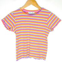 Free By Cotton On Striped Womens Top T-Shirt Size 13