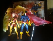 NEW Cyclops DARK Phoenix marvel legends figure and effects lot X-Men 2 pack
