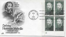 US Scott #2094, First Day Cover 8/1/84 New Bedford Plate Block Melville