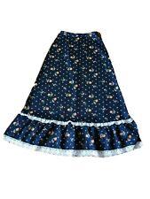 Original 1970s Vintage Maxi Skirt Hippy Boho Style Size 10