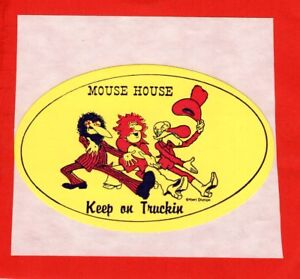 FREAK BROTHERS Keep On Truckin' 1970's Sticker STANLEY MOUSE HOUSE Head DETROIT