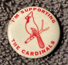Rare 1940's Vintage Pin Back Button St. Louis Cardinals MLB St. Louis Button Co