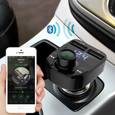 Dual USB Wireless Bluetooth FM Transmitter Car Charger Receiver MP3 Radio Kit