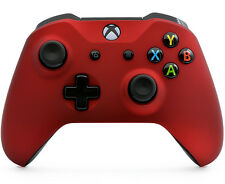 Soft Touch Red Xbox One S Rapid Fire Modded Controller for COD, Destiny and More