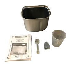 New listing Breadman Ultimate Plus Tr2500Bc Bread Maker Pan, Paddle, Manual Measurement Cup