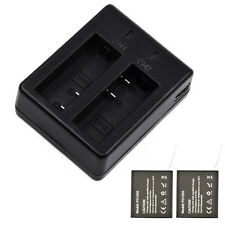 PG1050 mAh Battery Dual Charger+2Pcs For EKEN H9/H9R H8R SJCAM SJ4000 SJ5000 cam