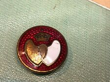More details for vintage blood donor badge guioche enamel hearts & crown  horse shoe lapel fixing