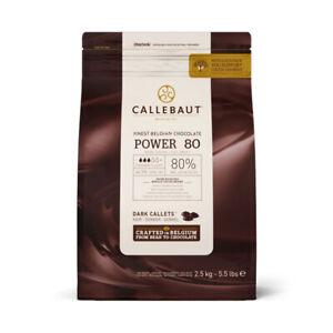 Callebaut Chocolate Power Extra-Amer 80% Le Meilleur Chocolat Belge 2.5Kg