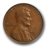 1931 S 1C Lincoln Wheat Cent PCGS AU 50 About Uncirculated Key Date Cert#5729