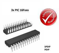 3x Microcontrôleurs Microchip : PIC 16F - SPDIP / PDIP : NEUF