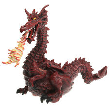 """Papo The Enchanted World Fire Breathing RED DRAGON WITH FLAME 4"""" Figurine 1999"""
