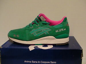 Asics running shoes gel-lyte iii size 11.5 us men tropical green new with box