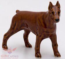 Porcelain Figurine of the Doberman Pinscher Dog