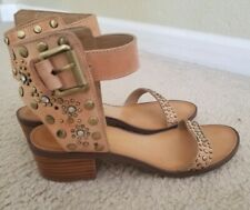 Chinese Laundry Tan Ankle Strap Studded Sandals Size  US 6