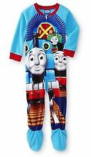 THOMAS TANK ENGINE TRAIN Footed Pajamas Blanket Sleeper Toddler 4T NWT NEW