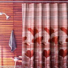 California Poppy Spice Bronze Rust 70 x 72  Fabric Shower Curtain New In Bag