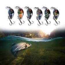 Topwater Bass Minnow Fishing Lures Lot Hard Bait Crankbaits HOT Hook Treble F6F1