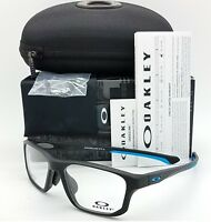 NEW Oakley Crosslink Fit RX Frame Satin Black/ Blue OX8142M-0156 56mm AUTHENTIC