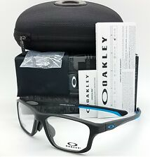 6ccf6442953 NEW Oakley Crosslink Fit RX Frame Satin Black  Blue OX8142M-0156 56mm  AUTHENTIC