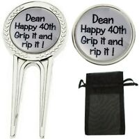 CUSTOM PERSONALISED BIRTHDAY GOLF BALL MARKER DIVOT TOOL PITCH REPAIRER
