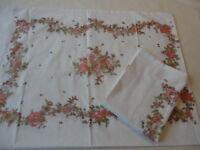 Pillowcases 2 Vintage 1970's Sears Muslin Floral  Print