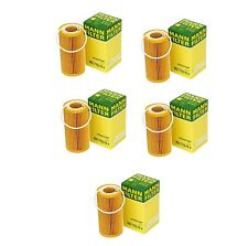 Set of 5 Engine Oil Filters For Volvo C30 C70 S40 S60 V50 V60 XC60 XC70 Mann