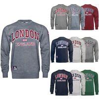 16sixty Souvenir Mens London England Embroidered Fleece Jumper Sweatshirt 1660