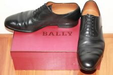 Bally Mens Black Leather Oxford shoes Size EU9 Made in Switzerland