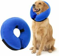 PREMIUM Inflatable Dog Recovery Collar Comfy Adjustable Soft Washable Cone Dogs