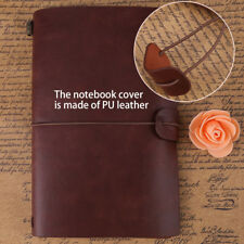 Classic Retro Handmade Soft Cover Flexible Leather Travel Journal Diary Notebook