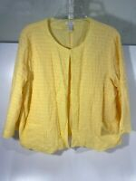 Chico's Women's Cardigan Size 2, Gold, Yellow, Cotton, Polyester, Spandex - USED