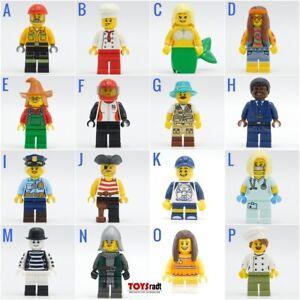 Lego Minifigures Mime Knight Police Mermaid Chef Hippie Nurse You pick 🎁