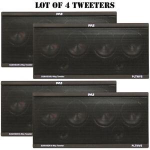 LOT OF (4) 6-Way Sunvisor Mount 200 Watt Tweeter System PLTWVS