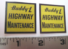 Buddy L  Highway Maintenance  water slide decal set