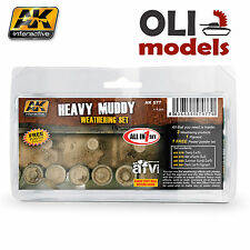 HEAVY MUDDY Weathering Enamel & Pigment Set 4x35ml - AK Interactive 77