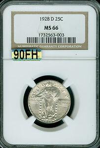 1928-D STANDING LIBERTY QUARTER NGC MAC MS66 90FH FINEST REGESTRY RARE *