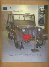 Francis Sanza Gen.Patton's Jeep Driver 3rd Army WW2 Autographed 8x10 Picture