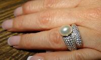 NEU Valero Pearls  Ring 925 Sterling Silber 52 16,6 Süßwasser Perle Luxus