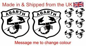 FIAT 500 ABARTH Decal Set in GLOSS BLACK SCORPION many more COLOURS available