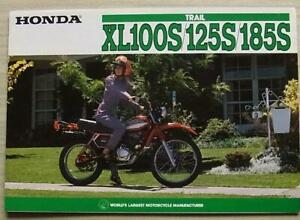 HONDA TRAIL XL100S/125S/185S MOTORCYCLES Sales Brochure 1981 #2C0074